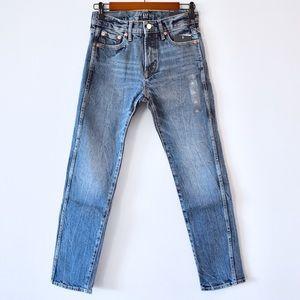 High Rise Slim Straight Jeans